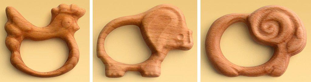 Деревянный прорезыватель зубов
